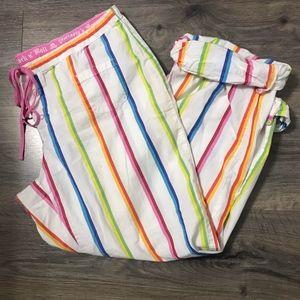VS Pink Striped Sleep Pants Medium